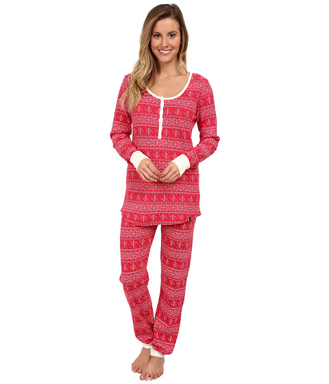 Tommy Hilfiger - Thermal Set (Virtual Pink Fairisle) Women's Pajama Sets