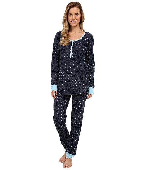 Tommy Hilfiger - Thermal Set (Evening Flurry Poseidon) Women's Pajama Sets
