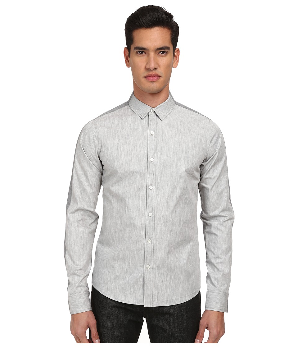 PRIVATE STOCK - The Maudsley Shirt (Grey) Men's Long Sleeve Button Up