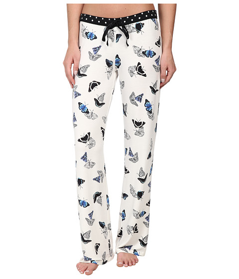 P.J. Salvage - Royal Butterfly Butterfly Pajama Pant (Natural) Women's Pajama
