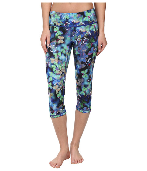 Pink Lotus - Inverted Reversible Crop (Butterfly Effect) Women's Casual Pants