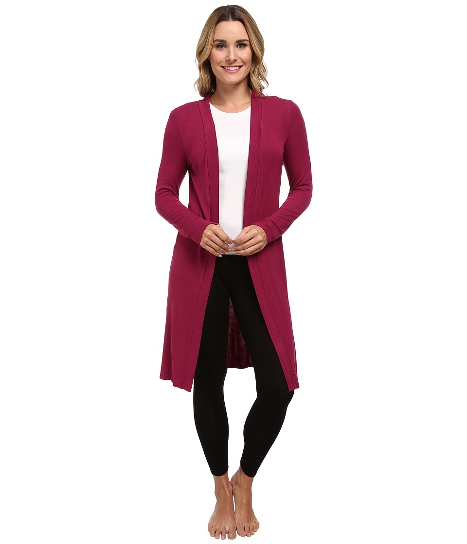 P.J. Salvage - Essential Luxe Rib Cardig Robe (Berry) Women