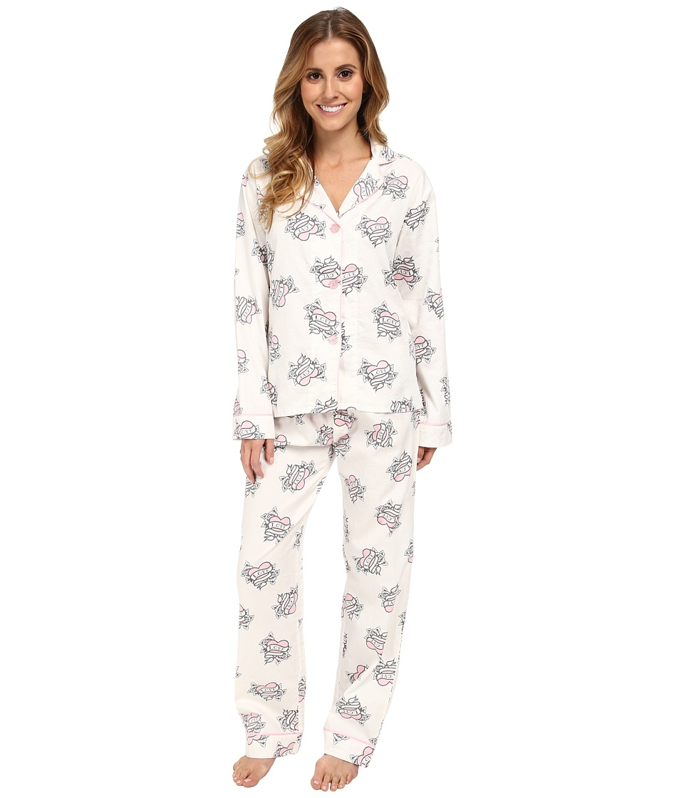 P.J. Salvage - Love More Pajama Set (Ivory) Women's Pajama Sets