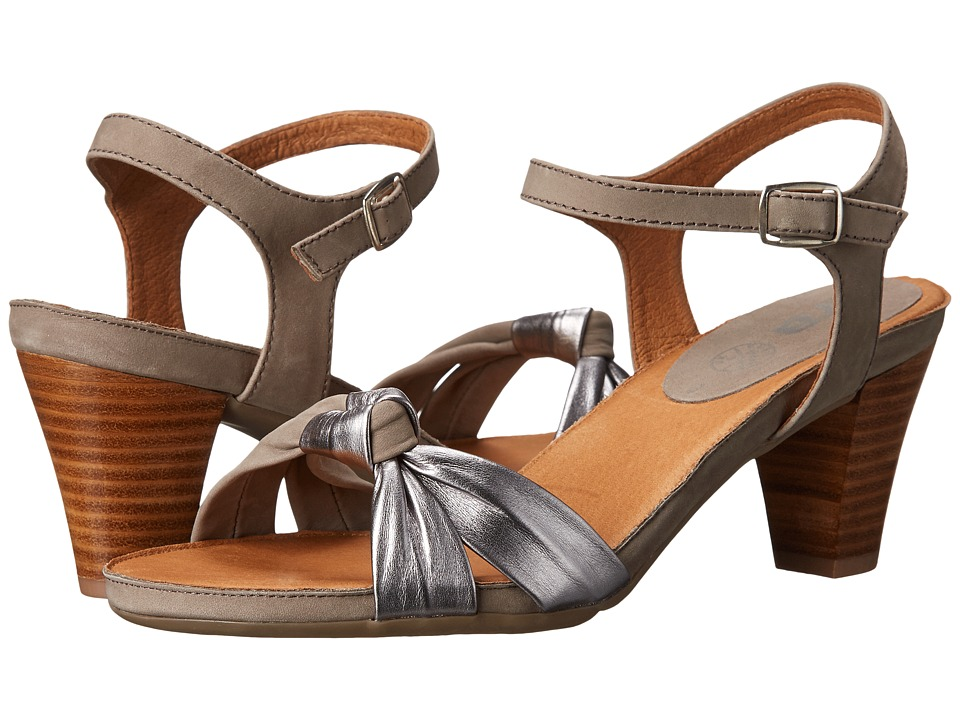 ara - Roux (Grey Nubuk/Gun Metallic) Women's Sandals