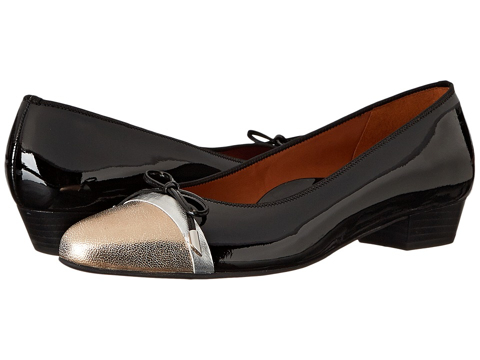 ara Summer (Black Patent/Champagne Metallic) Women