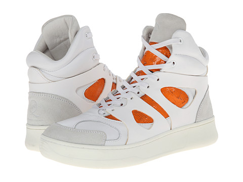 PUMA Sport Fashion - MCQ Move Mid (White/Fluo Flash Orange) Men