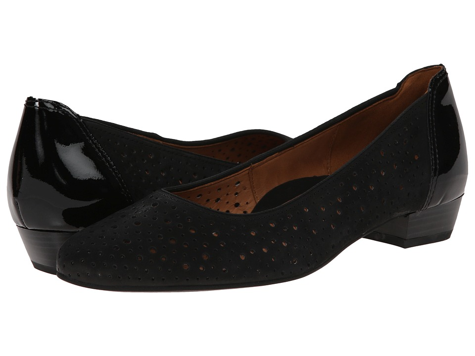 ara - Solstice (Black Nubuk/Patent) Women's Shoes