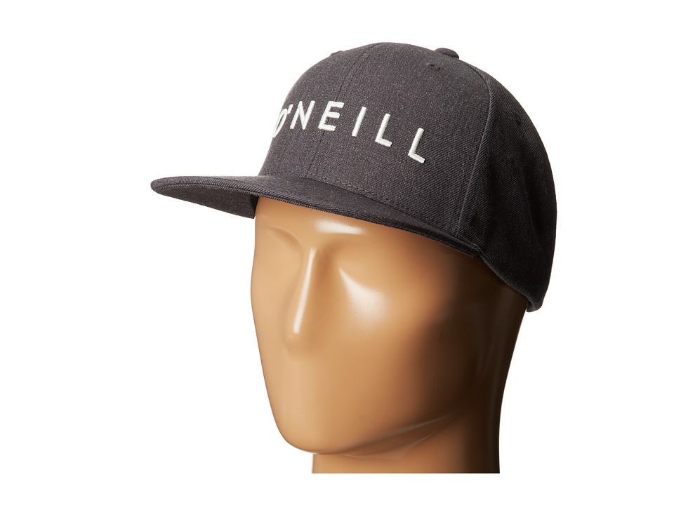 O'Neill - Yambao Adjustable Hat (Heather Black) Baseball Caps
