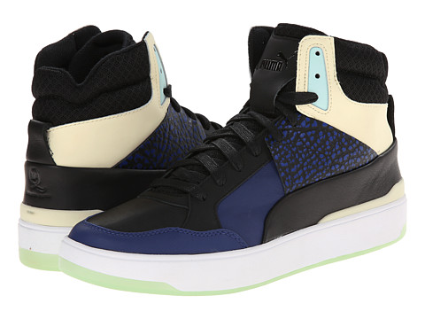 PUMA - MCQ Brace Femme Mid (Black/Iceland Blue) Women's Lace Up Cap Toe Shoes