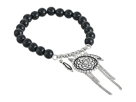 The Sak - Bohemian Getaway Charm Stretch Bracelet (Black/Silver) Bracelet