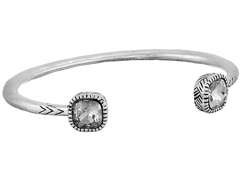 The Sak - Get Connected Open Stone Cuff Bracelet (Crystal/Silver) Bracelet
