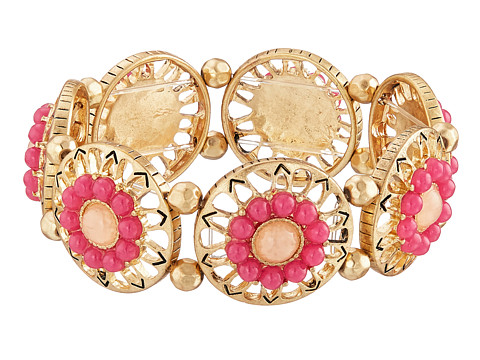 The Sak - Blush Open Stone Stretch Bracelet (Orchid/Gold) Bracelet