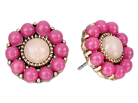 The Sak - Blush Flower Stud Earring (Orchid/Gold) Earring