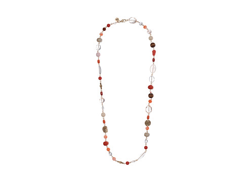 The Sak - Blush Bead Link Necklace (Rose Quartz/Gold) Necklace