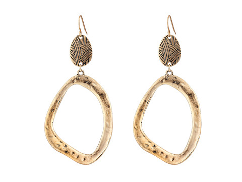 The Sak - Get Connected Open Double Drop Earring (Gold) Earring