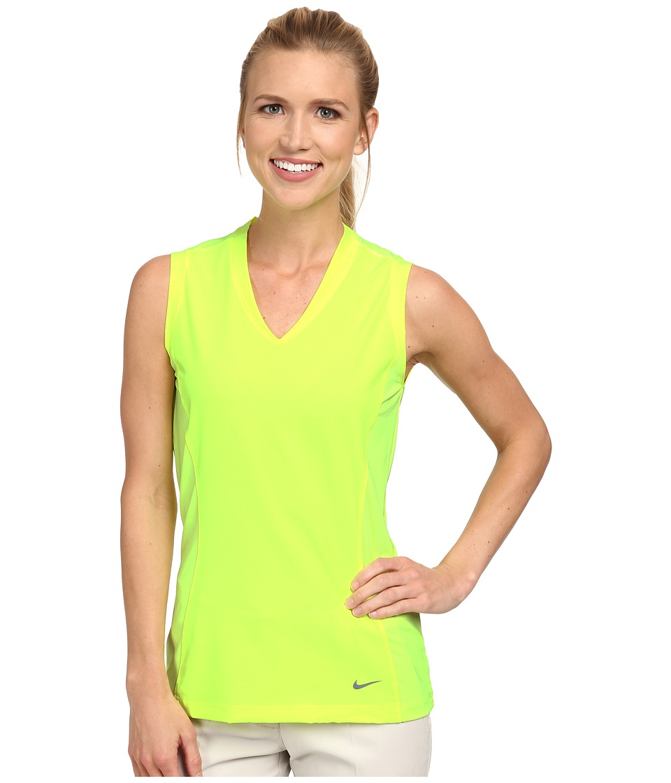 Nike Golf - Tour Mesh Sleeveless (Volt/Dove Grey) Women's Sleeveless