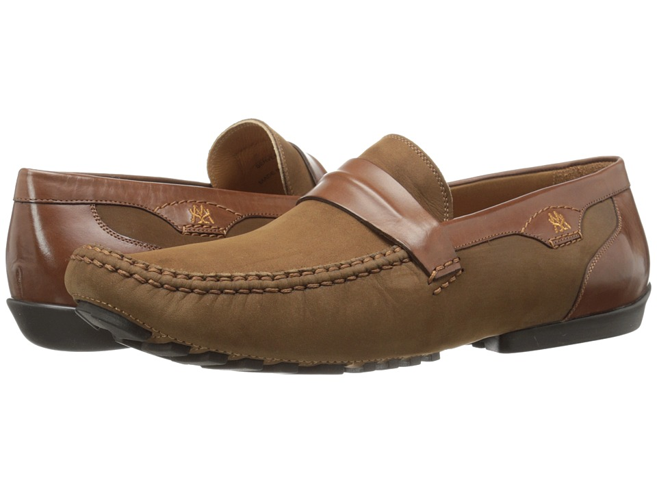 Mezlan - Servet (Tabac/Cognac) Men's Slip-on Dress Shoes