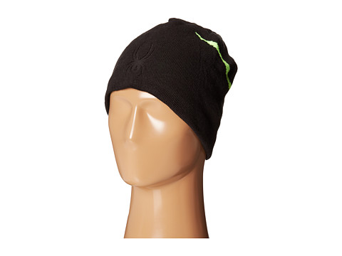 Spyder - Shelby Hat (Black/Bryte Green) Beanies