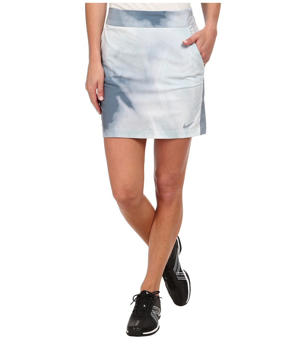 Nike Golf - Printed Woven Skort (Light Magnet Grey/Dove Grey/Blue Graphite/Dove Grey) Women