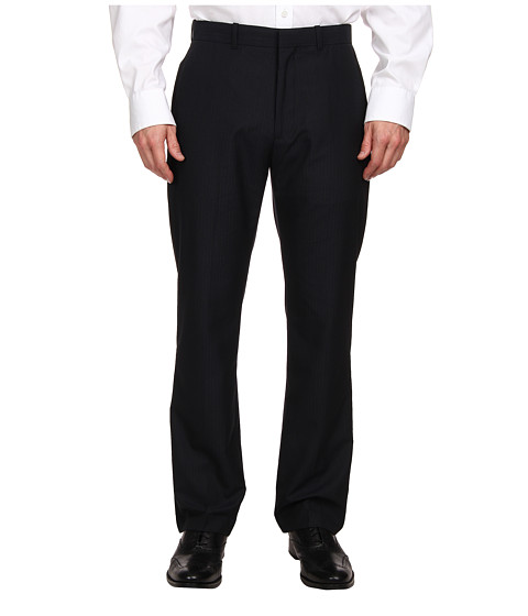 Perry Ellis Portfolio - Modern Fit Flat Front Mutli Bead Stripe Pant (Midnight Blue) Men's Dress Pants