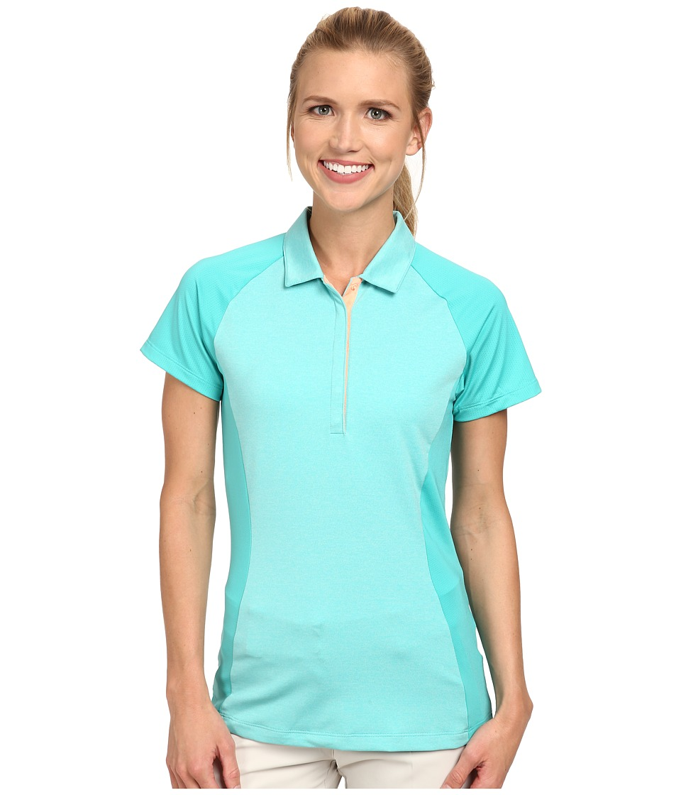 Nike Golf - Luxe Raglan Polo (Light Retro/Sunset Glow/Sunset Glow) Women's Short Sleeve Pullover