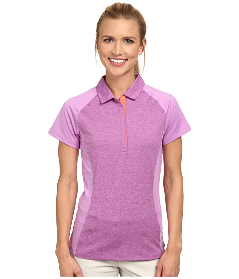 Nike Golf - Luxe Raglan Polo (Violet Shock/Hot Lava/Hot Lava) Women's Short Sleeve Pullover