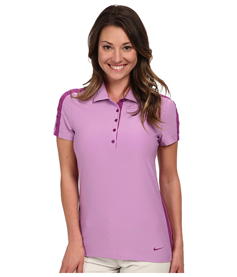 Nike Golf - Seasonal Mesh Polo (Violet Shock/Bold Berry/Bold Berry) Women's Short Sleeve Pullover