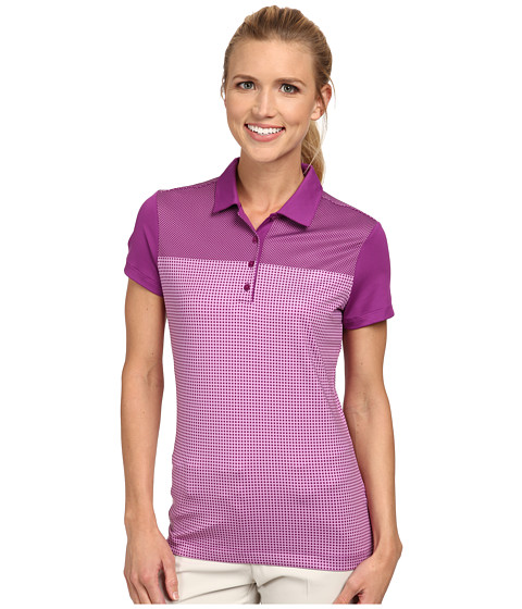 Nike Golf - Dot Block Polo (Bold Berry/Violet Shock/Bold Berry/Violet Shock) Women's Short Sleeve Knit