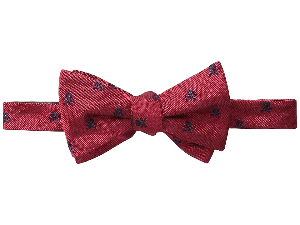 Vineyard Vines - Skull X-Bones Printed Bow Tie (Red) Ties