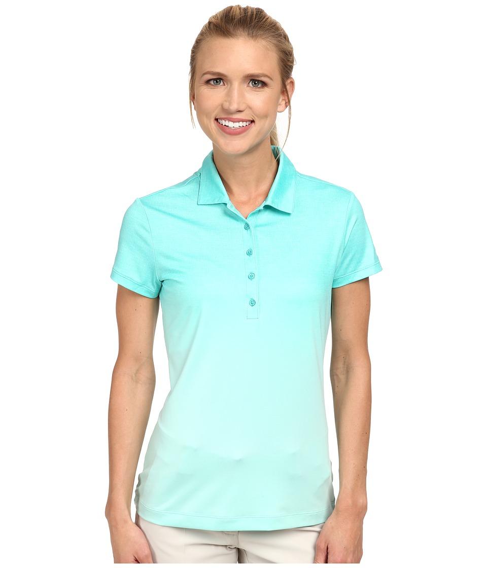 Nike Golf - Fade Polo (Light Retro/Artisan Teal/White) Women's Short Sleeve Knit