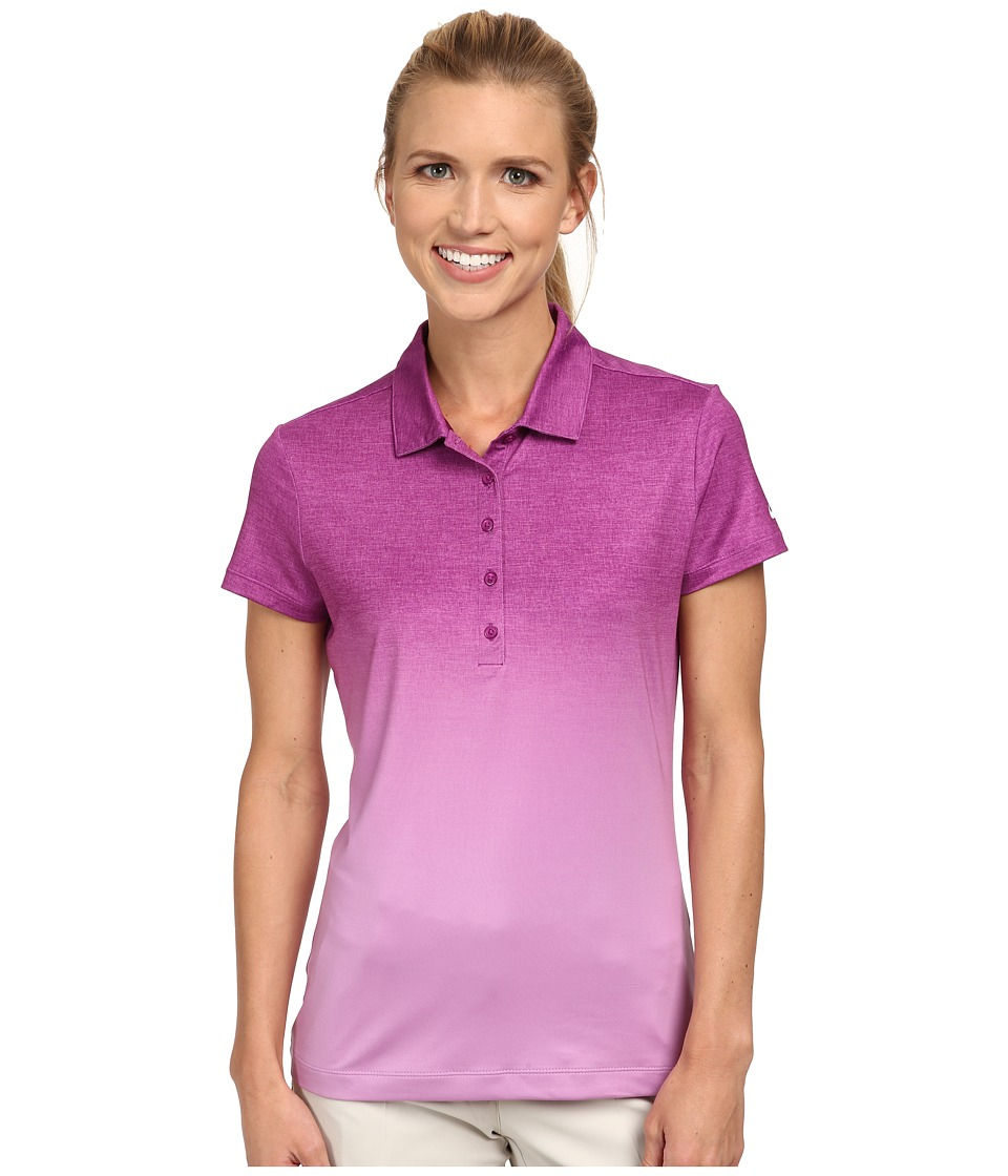 Nike Golf - Fade Polo (Bold Berry/Violet Shock/White) Women's Short Sleeve Knit