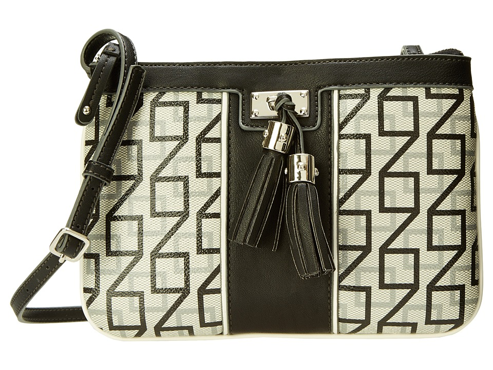 Nine West - Printed Square 9S Crossbody (Black/Grey/White Multi) Cross Body Handbags
