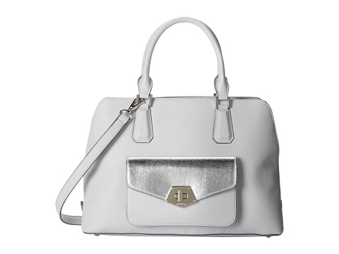 Nine West - Rock and Lock Satchel (Feather Grey) Satchel Handbags