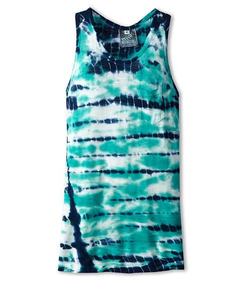 Young Fabulous & Broke Mini - Racer Tank Top (Little Kids/Big Kids) (Green/Navy Shorebreak) Girl's Sleeveless