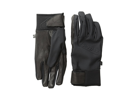 Spyder - Spring Softshell Conduct Ski Glove (Black) Ski Gloves