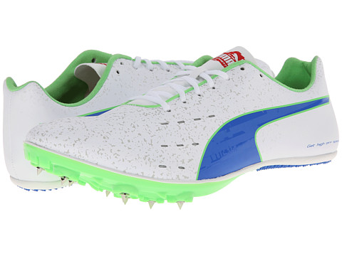 PUMA - TFX Sprint v5 (White/Strong Blue/Fluro Green) Men's Cleated Shoes