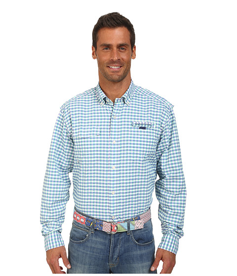 Vineyard Vines - Tarpon Gingham Harbor Shirt (Antigua Green) Men's Clothing