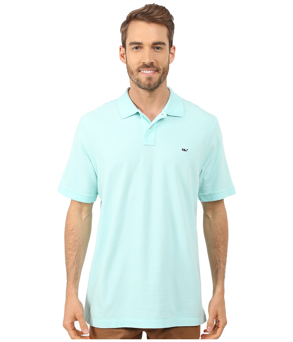 Vineyard Vines - Classic Piqu Polo (Blue Mist) Men's Short Sleeve Knit