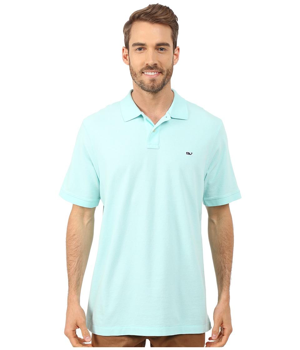 Vineyard Vines - Classic Pique Polo (Blue Mist) Men's Short Sleeve Knit