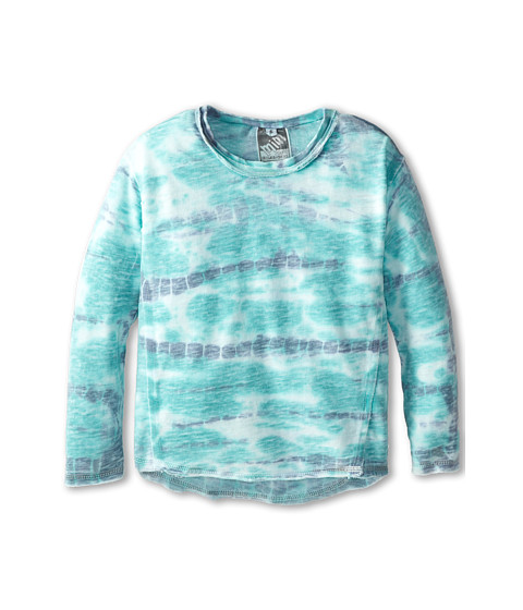 Young Fabulous & Broke Mini - Henry Pullover (Little Kids/Big Kids) (Green/Navy Shorebreak) Girl