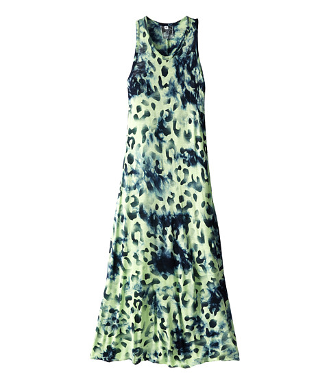 Young Fabulous & Broke Mini - Blair Maxi (Little Kids/Big Kids) (Navy/Lime Leopard) Girl's Dress