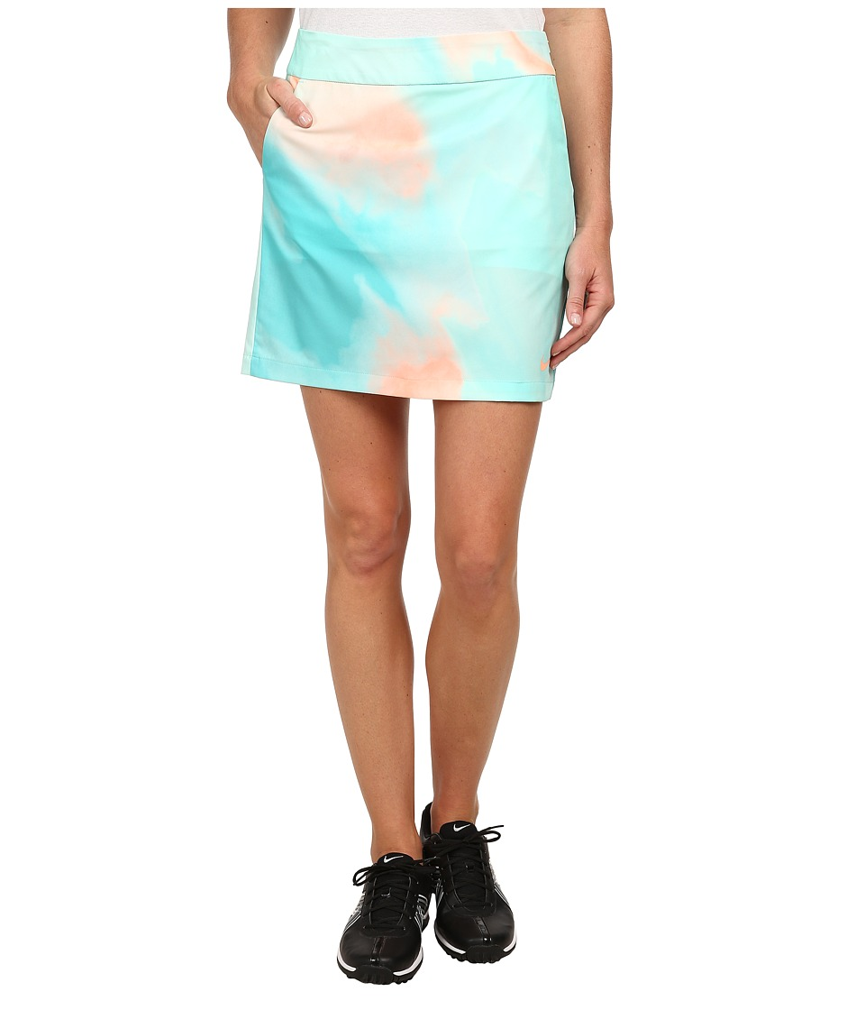 Nike Golf - Printed Woven Skort (Artisan Teal/Sunset Glow/Light Retro/Sunset Glow) Women's Skirt