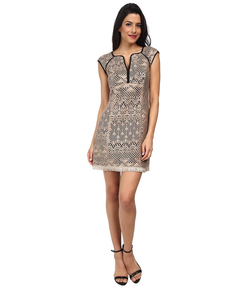 Nanette Lepore - Ferocious Fringe Dress (Light Camel) Women's Dress