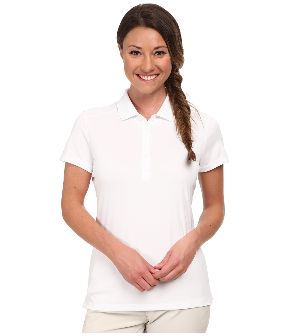 Nike Golf - Victory S/S Polo (White/Black) Women's Short Sleeve Pullover