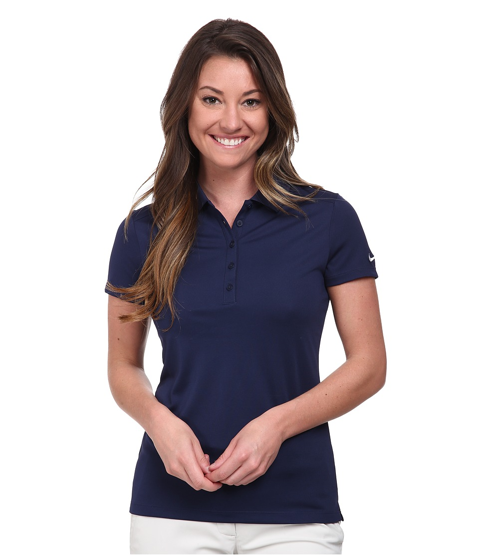 Nike Golf - Victory S/S Polo (College Navy/White) Women's Short Sleeve Pullover