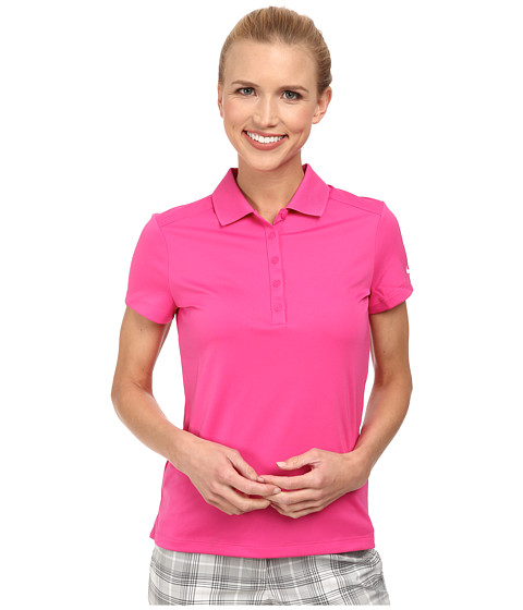 Nike Golf - Victory S/S Polo (Hot Pink/White) Women