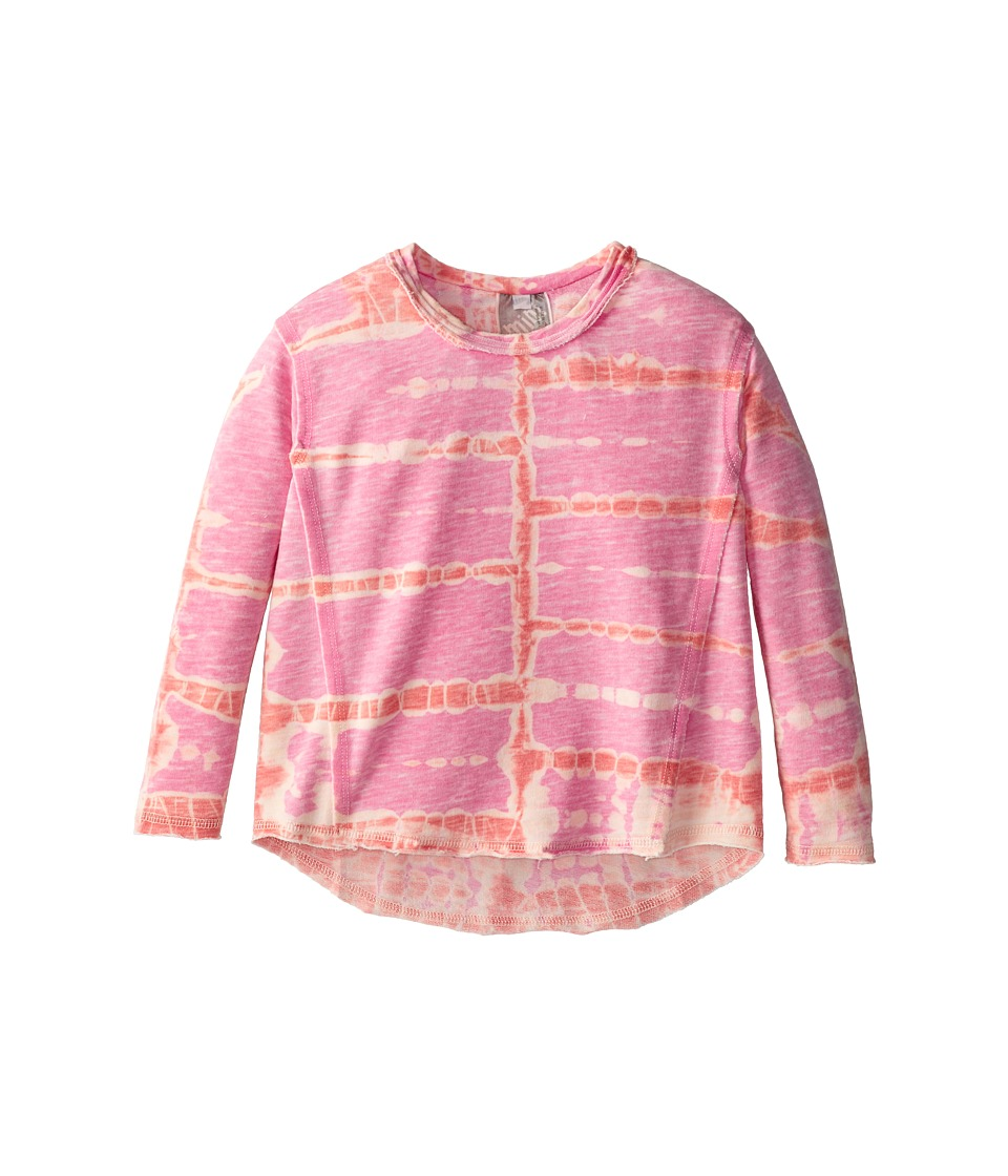 Young Fabulous & Broke Mini - Henry Pullover (Little Kids/Big Kids) (Raspberry/Orange Tiger) Girl's Long Sleeve Pullover