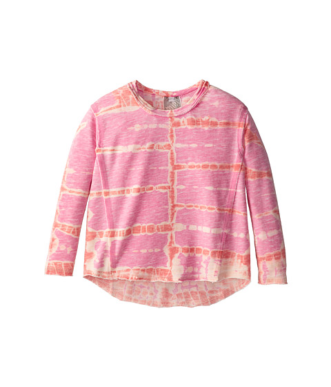 Young Fabulous & Broke Mini - Henry Pullover (Little Kids/Big Kids) (Raspberry/Orange Tiger) Girl