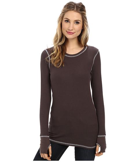 Allen Allen - L/S Thumbhole Tee Thermal Crew (Prune) Women's Long Sleeve Pullover