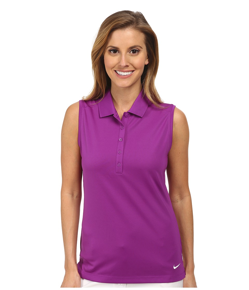 Nike Golf - Victory Sleeveless Polo (Bold Berry/White) Women's Short Sleeve Knit